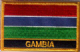 Gambia Embroidered Flag Patch, style 09.